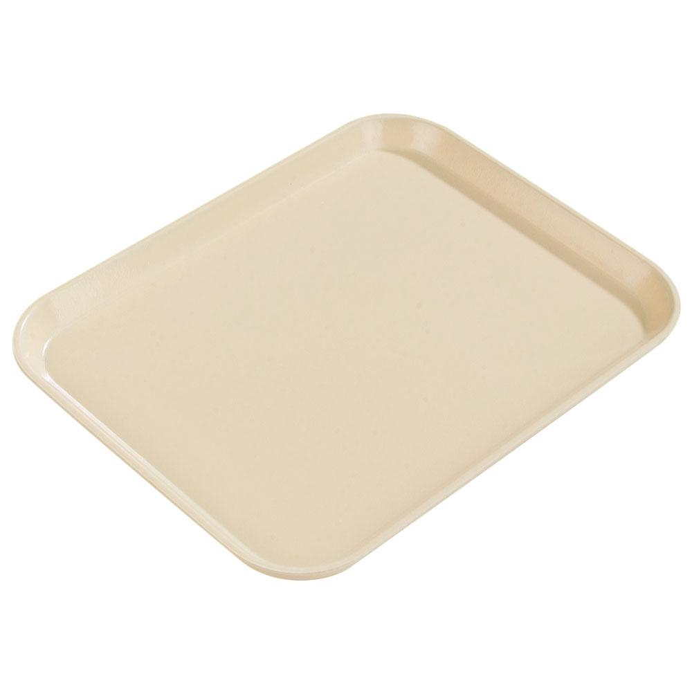 "Carlisle 1814FG025 Rectangular Cafeteria Tray - 18x14"" Beige"