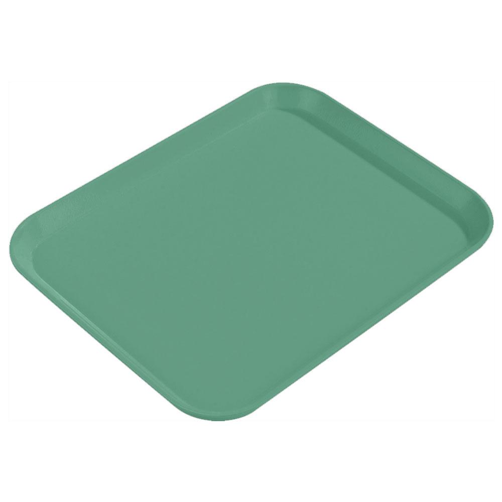 "Carlisle 1814FG053 Rectangular Cafeteria Tray - 18x14"" Jade"