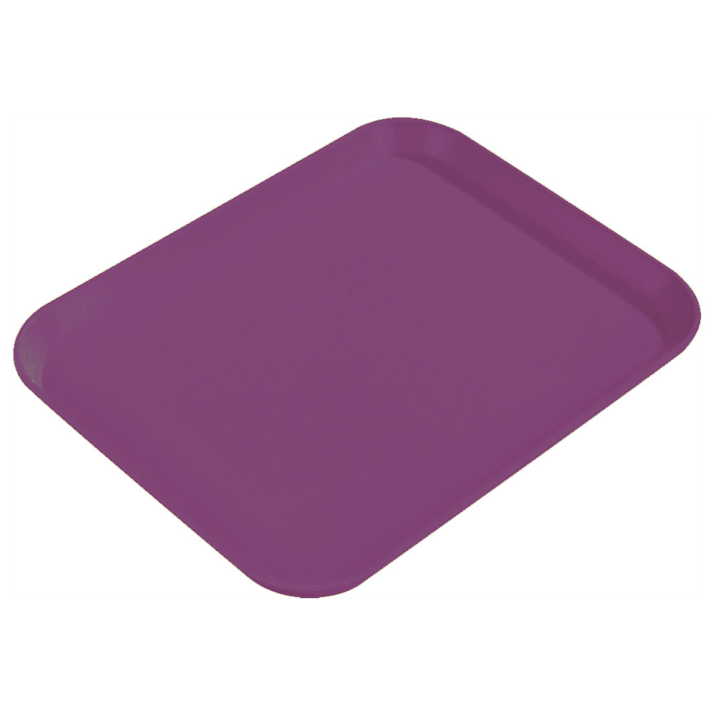 "Carlisle 1814FG054 Rectangular Cafeteria Tray - 18x14"" Mulberry"