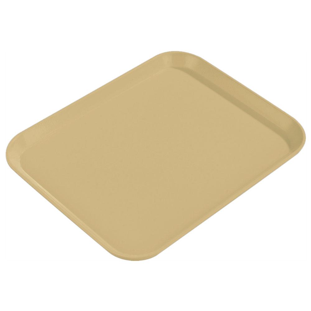 "Carlisle 1814FG095 Rectangular Cafeteria Tray - 18x14"" Almond"
