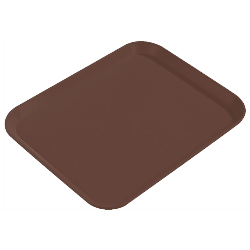 "Carlisle 1814FG127 Rectangular Cafeteria Tray - 18x14"" Chocolate"