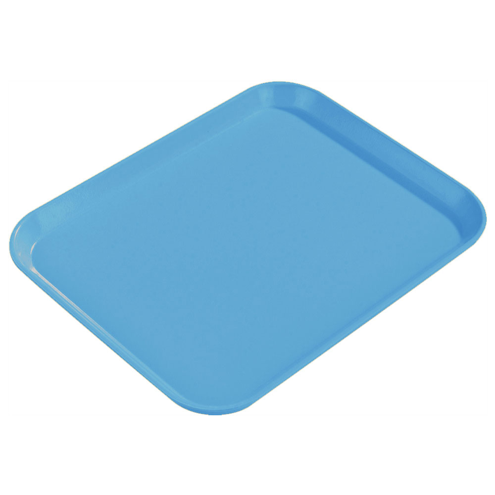 "Carlisle 1814FG97003 Rectangular Cafeteria Tray - 18x14"" Pacific Blue"