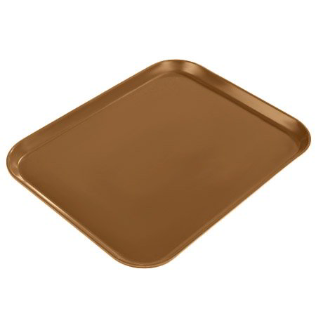 "Carlisle 1814FG97005 Rectangular Cafeteria Tray - 18x14"" Bay Leaf Brown"