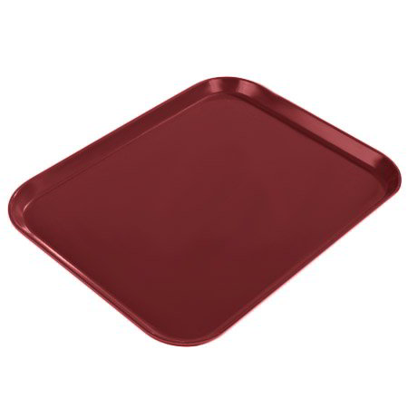 "Carlisle 1814FG97030 Rectangular Cafeteria Tray - 18x14"" Cherry Red"