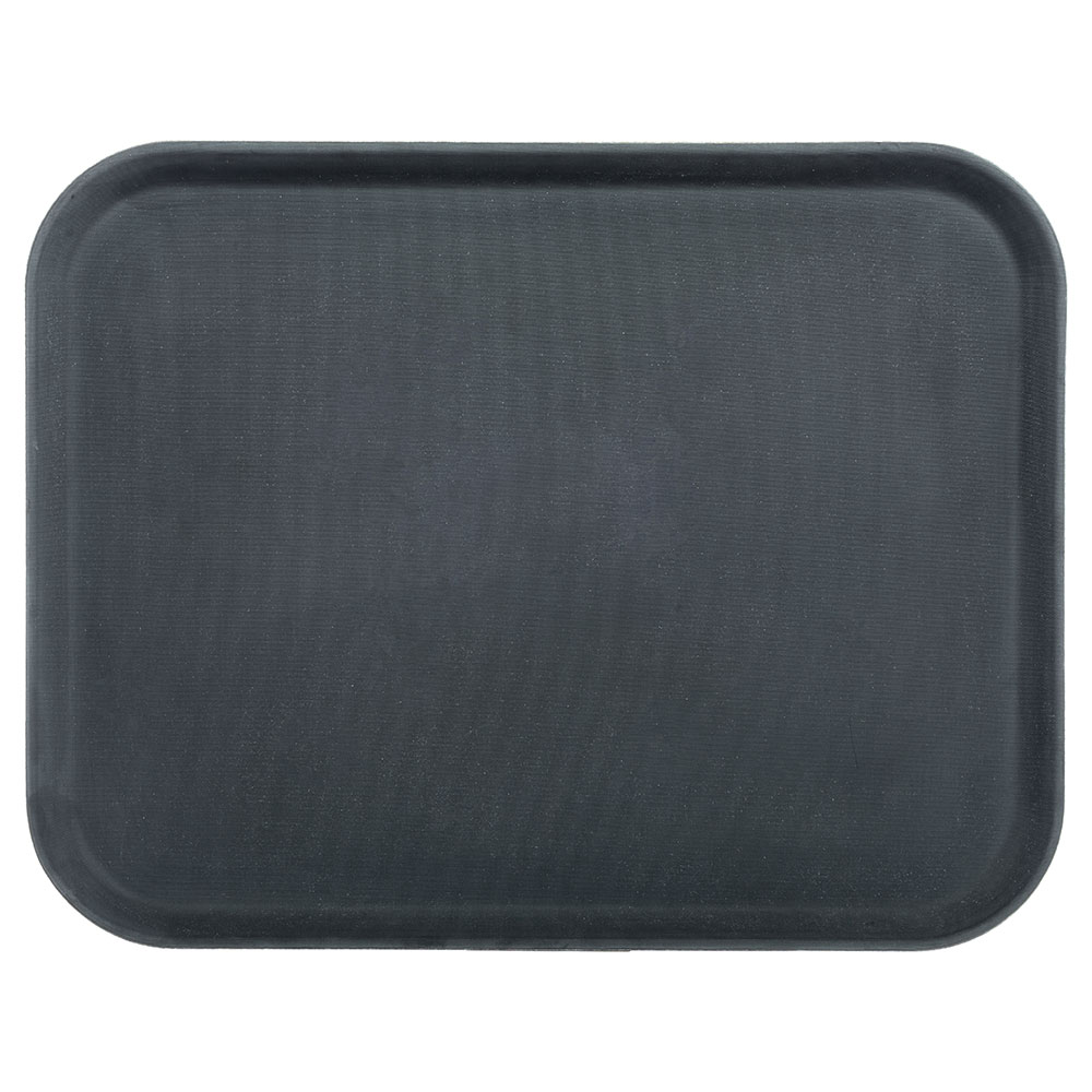 "Carlisle 1814GR004 Rectangular Serving Tray - 18x14"" Black"