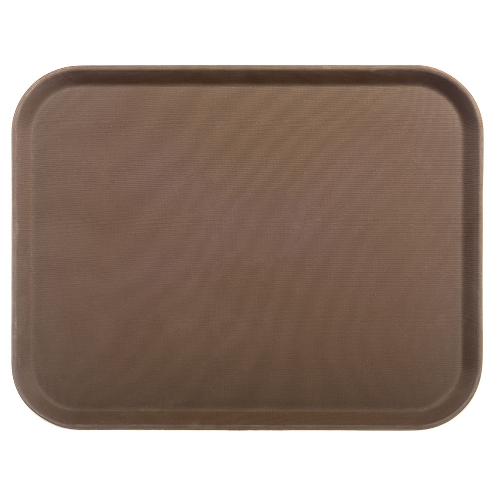 "Carlisle 1814GR076 Rectangular Serving Tray - 18x14"" Tan"