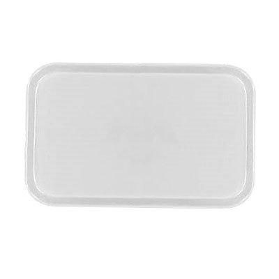 Carlisle 1826FG001 Rectangular Cafeteria Tray - 26x18cm, Bone White