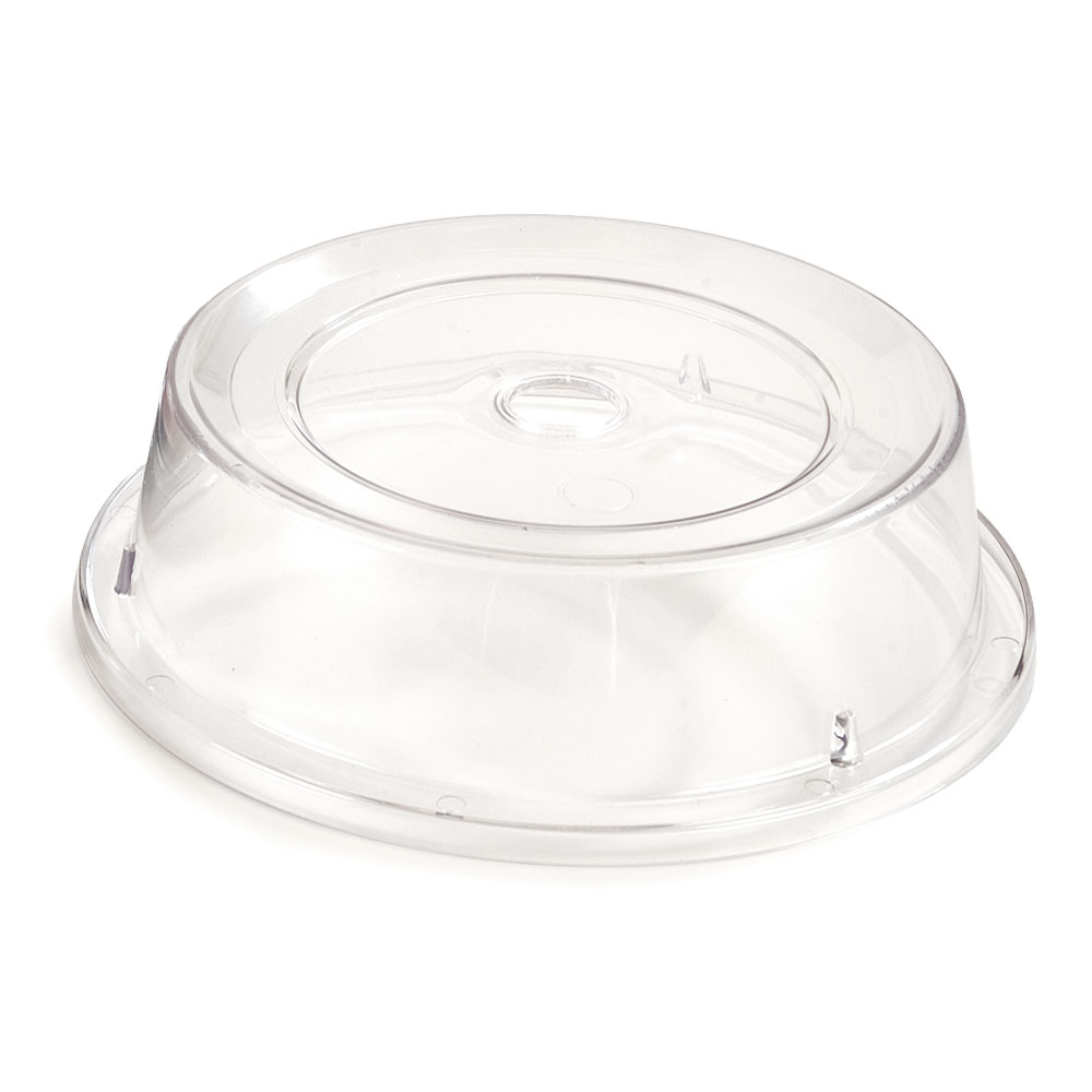 """Carlisle 198907 10-3/16"""" to 10-1/4"""" Plate Cover - Polycarbonate, Clear"""