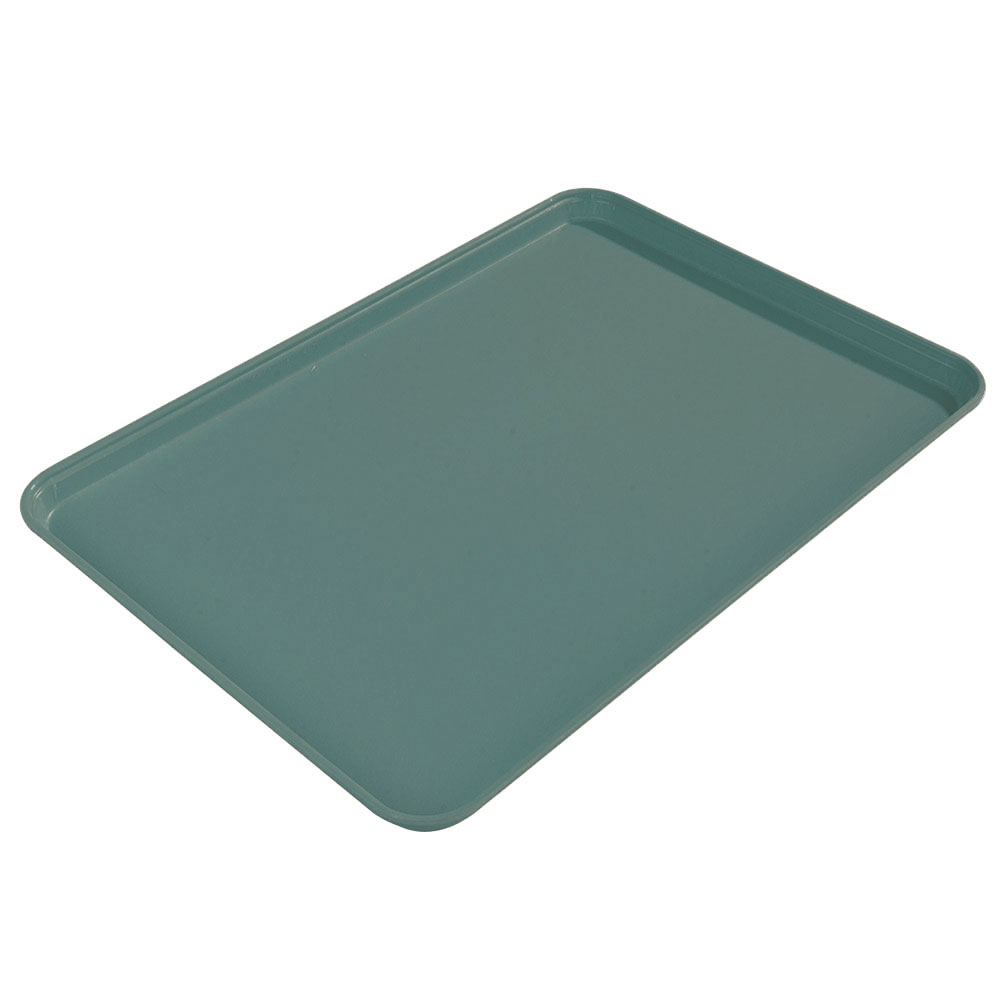 "Carlisle 2015FG010 Rectangular Cafeteria Tray - 20-1/4x15"" Forest Green"