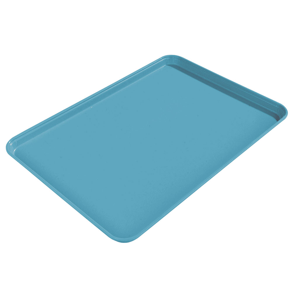 "Carlisle 2015FG011 Rectangular Cafeteria Tray - 20-1/4x15"" Turquoise"