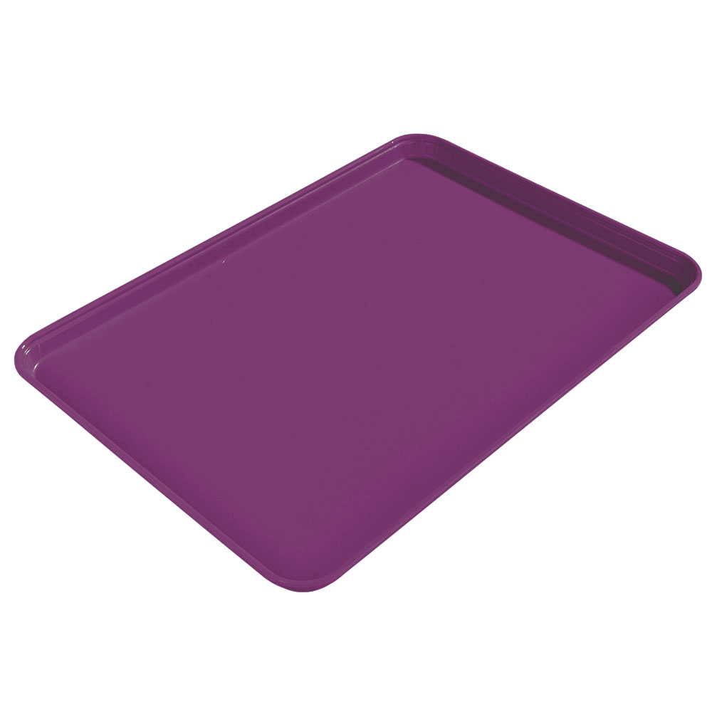 "Carlisle 2015FG054 Rectangular Cafeteria Tray - 20-1/4x15"" Mulberry"