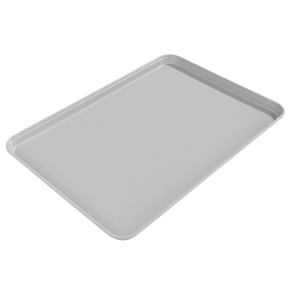 "Carlisle 2015FG068 Rectangular Cafeteria Tray - 20-1/4x15"" Gray"