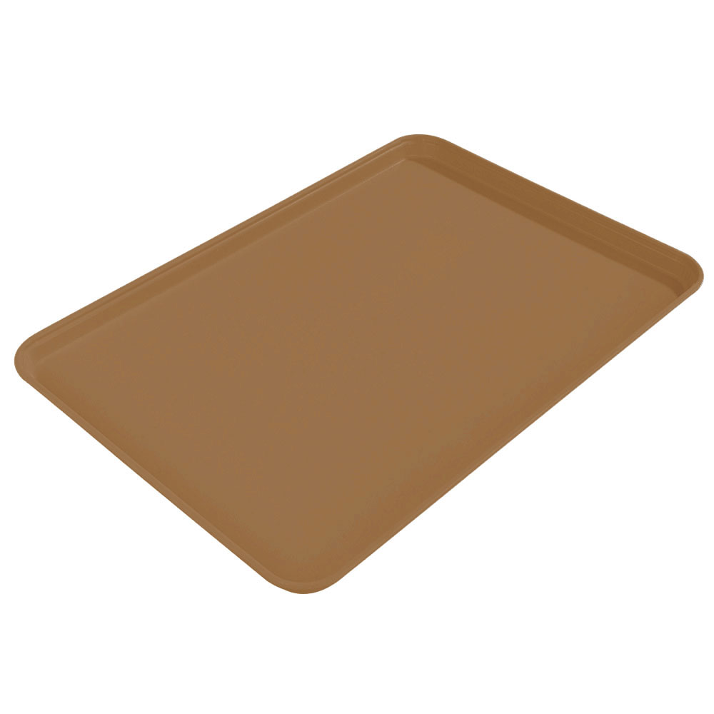 "Carlisle 2015FG97005 Rectangular Cafeteria Tray - 20-1/4x15"" Bay Leaf Brown"