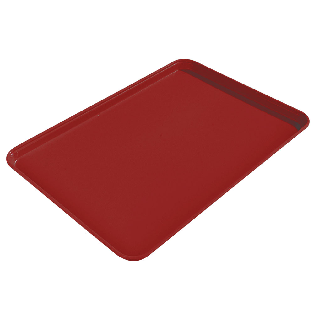 "Carlisle 2015FG97030 Rectangular Cafeteria Tray - 20-1/4x15"" Cherry Red"