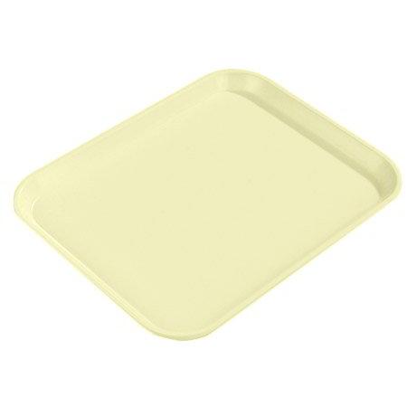 "Carlisle 2015FG97037 Rectangular Cafeteria Tray - 20-1/4x15"" Primrose Yellow"