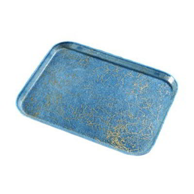 Carlisle 2115DFG029 Rectangular Cafeteria Tray - 53x37.5cm, Starfire Blue