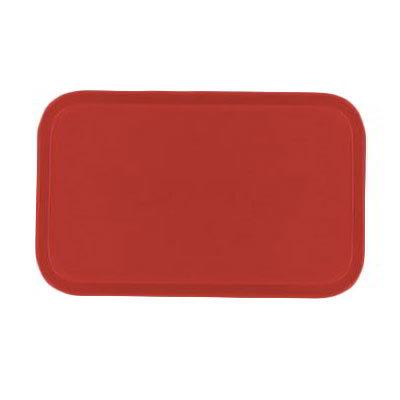 Carlisle 2115FG017 Rectangular Cafeteria Tray - 53x37.5cm, Red