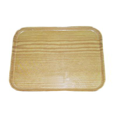Carlisle 2115WFG065 Rectangular Cafeteria Tray - 53x37.5cm, Light Oak Woodgrain