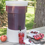 Carlisle 220930 5-gal Round Beverage Dispenser - Polypropylene, Translucent