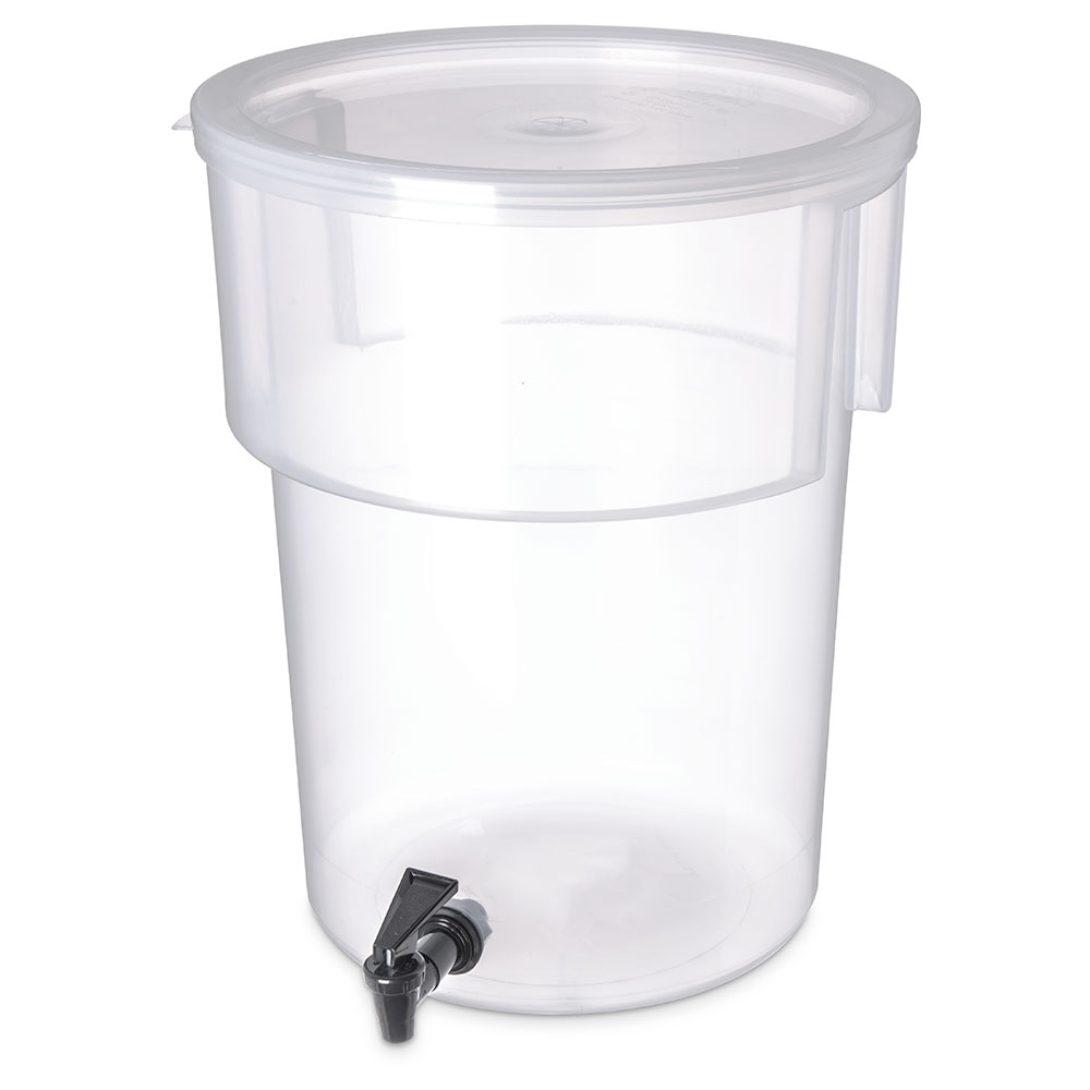 Carlisle 220930 5-gal Round Beverage Dispenser - Polypropylene, Clear