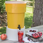 Carlisle 221004 5-gal Round Beverage Dispenser - Polypropylene, Yellow