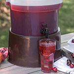 Carlisle 221101 3/5-gal Round Beverage Dispenser Base - Polyethylene, Brown