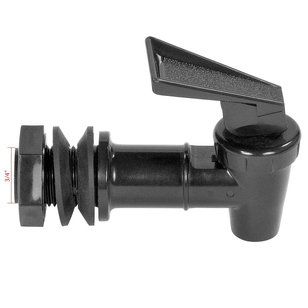 Carlisle 221203 Economy Beverage Dispenser Faucet - Polycarbonate, Black