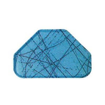 "Carlisle 2214DFG029 Trapezoid Cafeteria Tray - 22x14"" Starfire Blue"