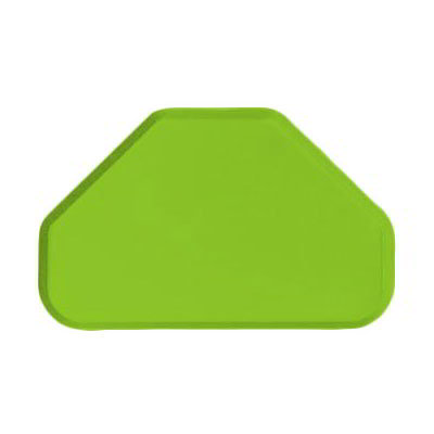 "Carlisle 2214FG009 Trapezoid Cafeteria Tray - 22x14"" Lime"