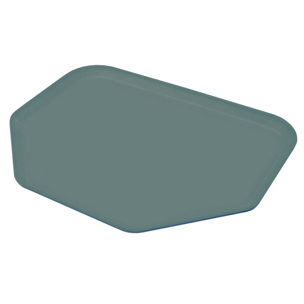 "Carlisle 2214FG010 Trapezoid Cafeteria Tray - 22x14"" Forest Green"