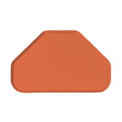 """Carlisle 2214FG018 Trapezoid Cafeteria Tray - 22x14"""" Orange"""
