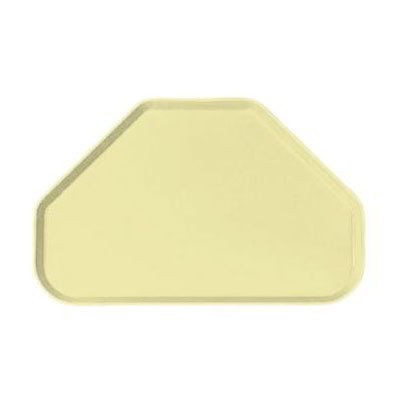 "Carlisle 2214FG024 Trapezoid Cafeteria Tray - 22x14"" Lemon"