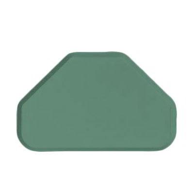 """Carlisle 2214FG053 Trapezoid Cafeteria Tray - 22x14"""" Jade"""