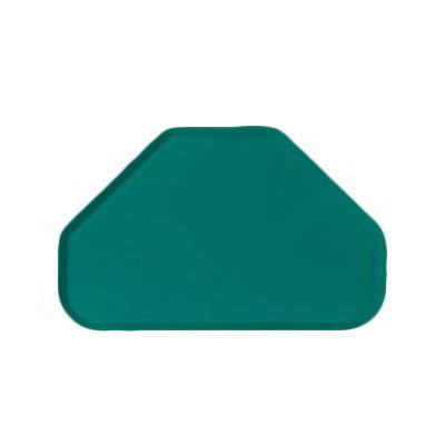 "Carlisle 2214FG055 Trapezoid Cafeteria Tray - 22x14"" Rain Forest Green"