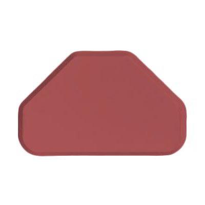 """Carlisle 2214FG069 Trapezoid Cafeteria Tray - 22x14"""" Raspberry"""