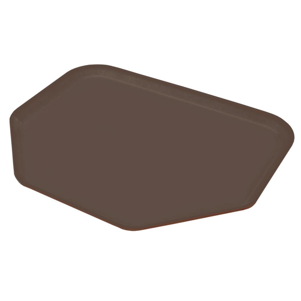 "Carlisle 2214FG127 Trapezoid Cafeteria Tray - 22x14"" Chocolate"