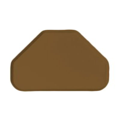 "Carlisle 2214FG97005 Trapezoid Cafeteria Tray - 22x14"" Bay Leaf Brown"