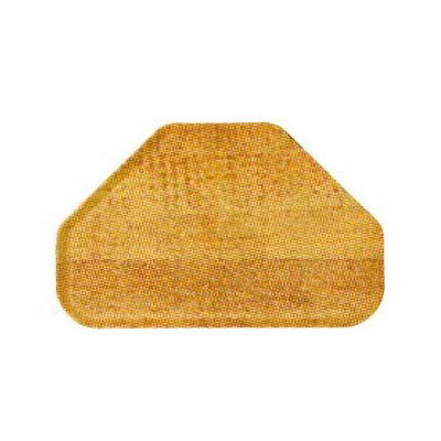 "Carlisle 2214WFG092 Trapezoid Cafeteria Tray - 22x14"" Butcher Block Woodgrain"
