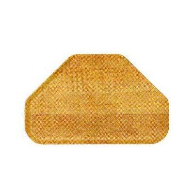 "Carlisle 2214WFG094 Trapezoid Cafeteria Tray - 22x14"" Redwood Woodgrain"