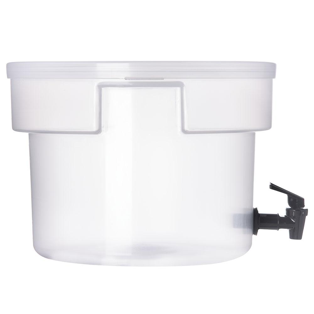 Carlisle 221930 3-gal Round Beverage Dispenser - Polypropylene, Translucent