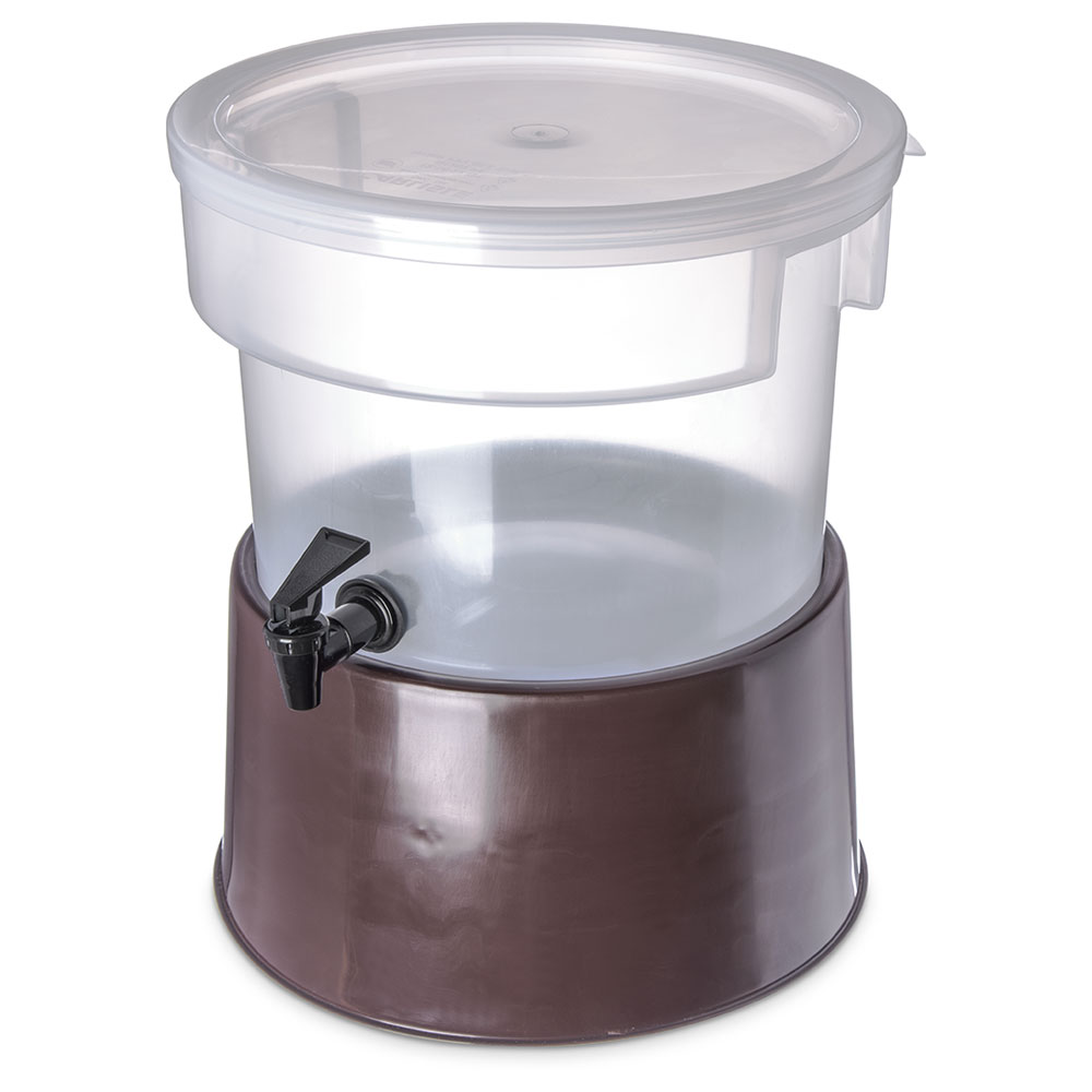Carlisle 222701 3-gal Round Beverage Server - Polypropylene, Translucent/Brown