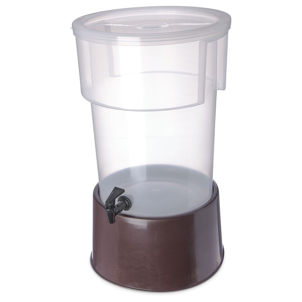 Carlisle 222901 5-gal Round Beverage Server - Polypropylene, Translucent/Brown