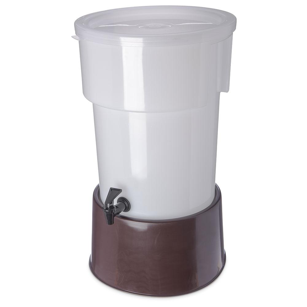 Carlisle 223001 5-gal Round Beverage Server - Polypropylene, White/Brown