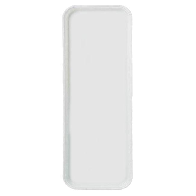 Carlisle 2310FG001 Rectangular Cafeteria Tray - 58.9x23.8cm, Bone White