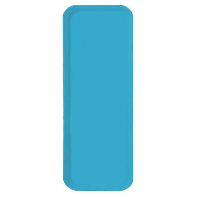 Carlisle 2310FG011 Rectangular Cafeteria Tray - 58.9x23.8cm, Turquoise