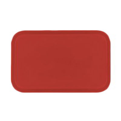 Carlisle 2310FG017 Rectangular Cafeteria Tray - 58.9x23.8cm, Red