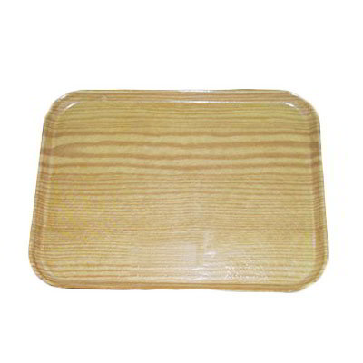 Carlisle 2310WFG065 Rectangular Cafeteria Tray - 58.9x23.8cm, Light Oak Woodgrain