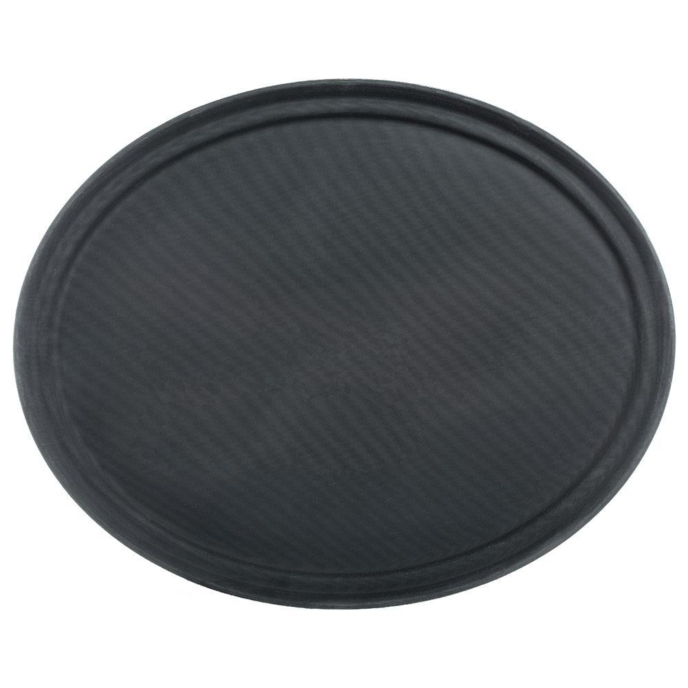 "Carlisle 2500GR004 Oval Serving Tray - 24x19-1/4"" Black"