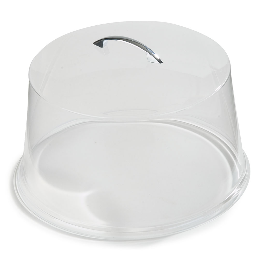 "Carlisle 251207 11-5/8"" Round Cake Cover - Chrome/Clear"