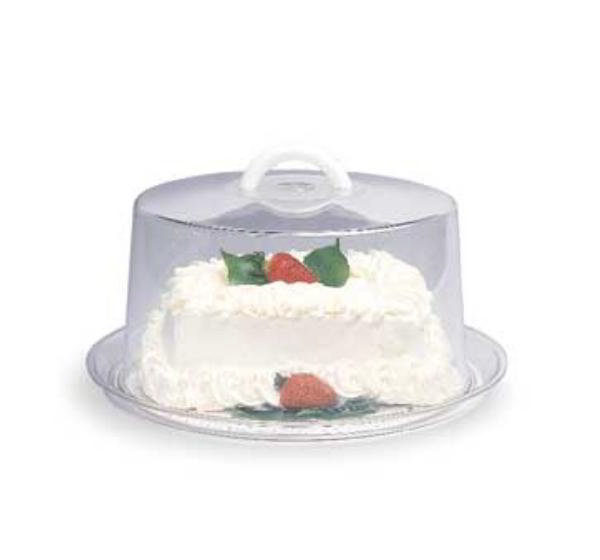 Carlisle 2520-07 Cake Cover, 12 in x 6-1/2 in, Clear SAN, White Handle